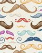 Vintage Mustache Seamless Pattern
