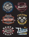 Vintage Motorcycle Themed Badge Vectors