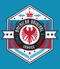Vintage Americana Style American Label Vector