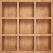 canvas print picture - Empty wood shelf