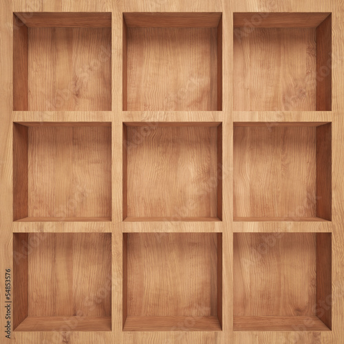 canvas print picture Empty wood shelf