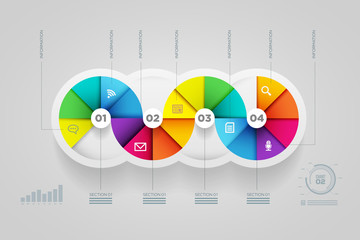 Circle shape infographic design template.