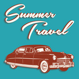 Retro Summer Travel Design