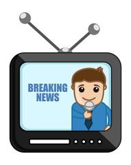 Breaking News - Business Cartoons Vectors
