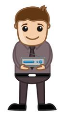 TV Setup Box - Business Cartoons Vectors