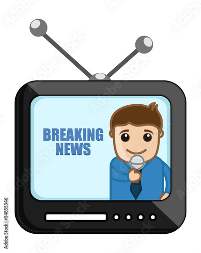 Breaking News - Business Cartoons Vectors