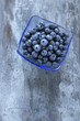 Fresh and delicious blueberries on wooden table