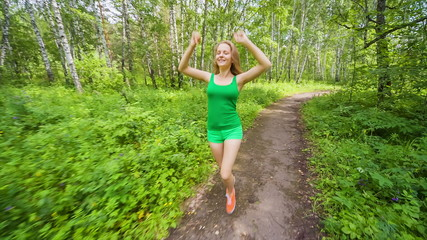 Jogging in park, Teenager to adopt healthy lifestyles