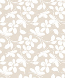 Seamless floral greeting card background