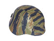 Kevlar helmet tiger stripe camouflage isolated on white