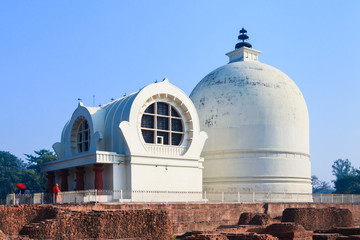 Parinirvana Stupa and temple, Kushinagar, India