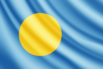 Waving flag of Palau, vector
