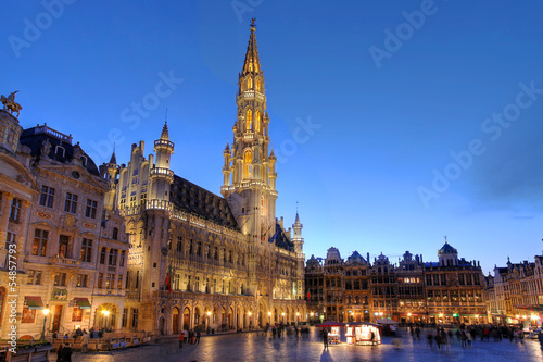 Foto op Plexiglas Brussel Grand Place, Brussels, Belgium