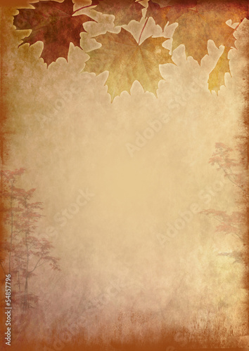 canvas print picture Autumn background grunge style