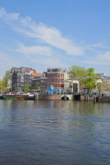 Amstel riverbank,  Amsterdam, Holland