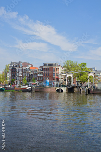 Amstel riverbank,  Amsterdam, Holland