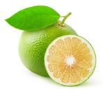 White grapefruit isolated on white