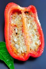 Peperone rosso gratinato