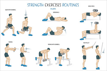 Strength Exercise Routine Man