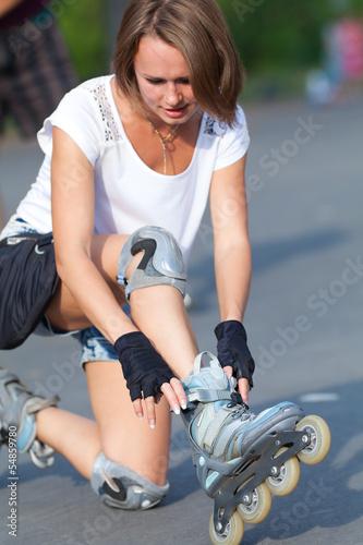 Roller skate girl skating.