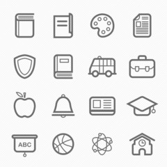education symbol line icon