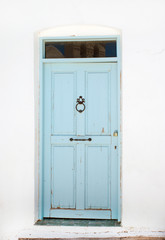 Traditional Greek door on Mykonos island, Greece
