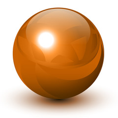 Orange glossy sphere