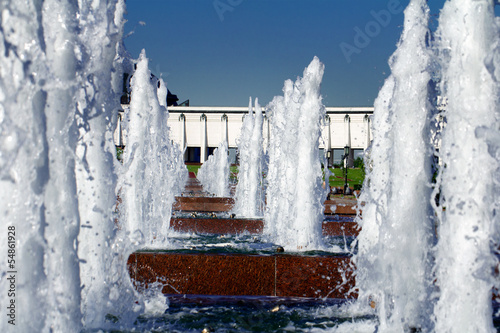 Fountain in a Victory park, Moscow, Russia