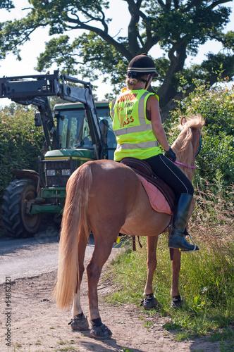 Papiers peints Equestre Road safety on horses