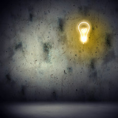 Background image with bulb
