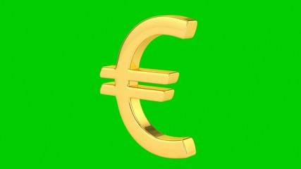 Golden Euro Sign - Isolated