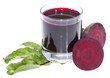 Beetroot Juice isolated on white