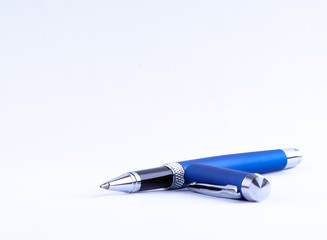 Blue pen and cap