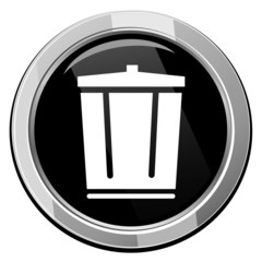 Vector trash can icon