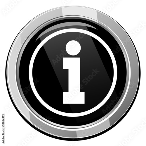 Information sign - Vector icon isolated