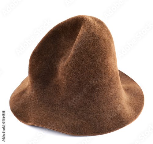 Brown hat isolated Poster
