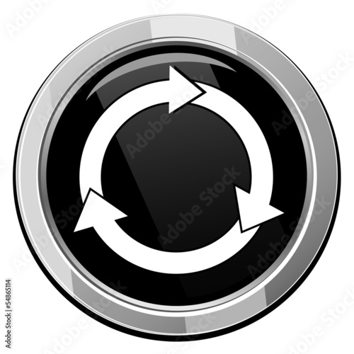 Arrows circle vector icon