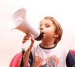 Kind mit Microfon
