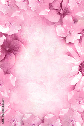 Beautiful summer flowers background