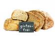 """Brot und Brötchen mit Tafel """"glutenfrei"""""""