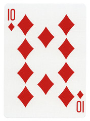 Playing Card - Ten of Diamonds