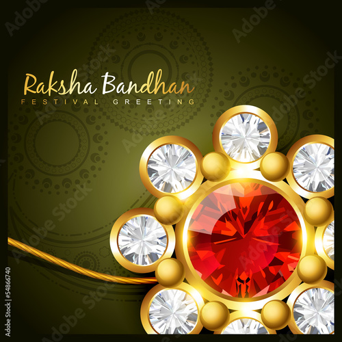 golden rakhi for rakshabandhan