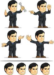 Businessman or Office Executive Customizable Mascot 10