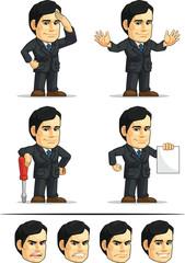 Businessman or Office Executive Customizable Mascot 9