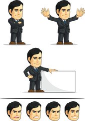 Businessman or Office Executive Customizable Mascot 6