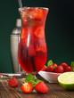 Cocktail mit Erdbeeren