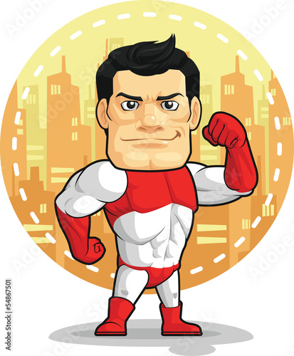 Cartoon of Superhero