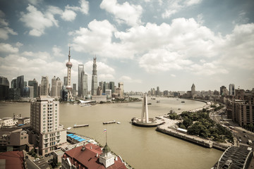 shanghai skyline at daytime