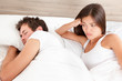 Marriage couple marital problems in bed