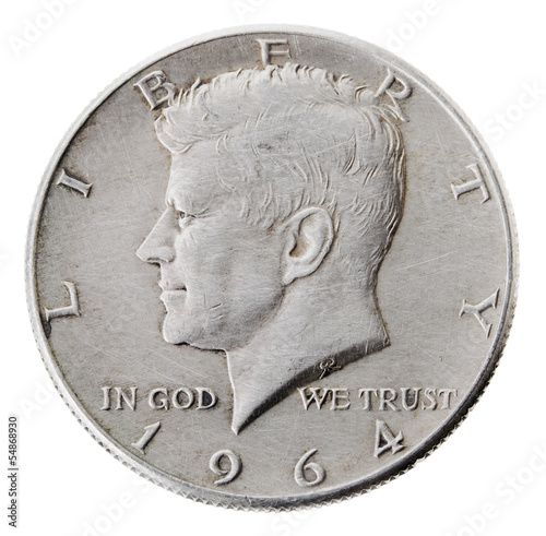 Silver Kennedy Half Dollar - Heads Frontal